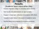 results students learn more when they