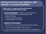 enhanced services for students with specific learning disabilities