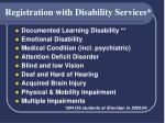 registration with disability services