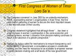 first congress of women of timor loro sa e