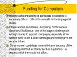 funding for campaigns