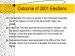 outcome of 2001 elections