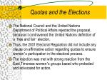 quotas and the elections1