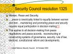 security council resolution 1325