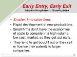 early entry early exit introduction phase growth phase