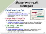 market entry exit strategies