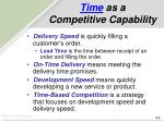 time as a competitive capability