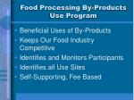 food processing by products use program