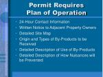 permit requires plan of operation
