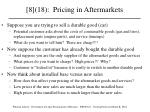 8 18 pricing in aftermarkets