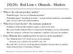 8 20 red lion v ohmeda markets