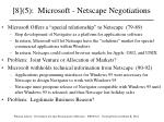 8 5 microsoft netscape negotiations