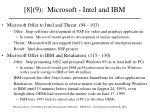 8 9 microsoft intel and ibm