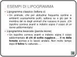esempi di lipogramma