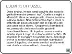esempio di puzzle