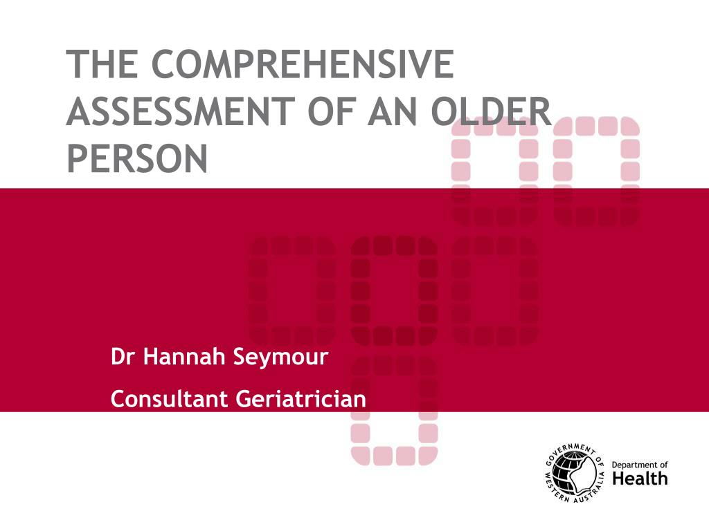 the comprehensive assessment of an older person l.