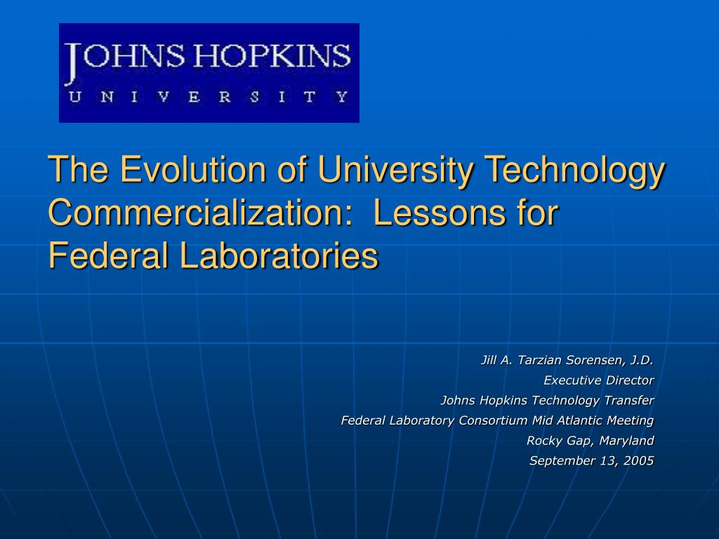 the evolution of university technology commercialization lessons for federal laboratories l.