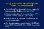 10 g de sufentanil intrath cal pour le travail une dose excessive