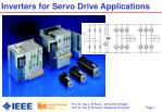 inverters for servo drive applications