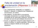 falta de unidad en la proclamaci n filipenses 1 15 2023