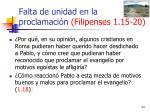 falta de unidad en la proclamaci n filipenses 1 15 2024