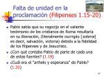 falta de unidad en la proclamaci n filipenses 1 15 2027