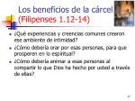 los beneficios de la c rcel filipenses 1 12 1417