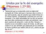 unidos por la fe del evangelio filipenses 1 27 3029