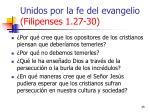 unidos por la fe del evangelio filipenses 1 27 3035