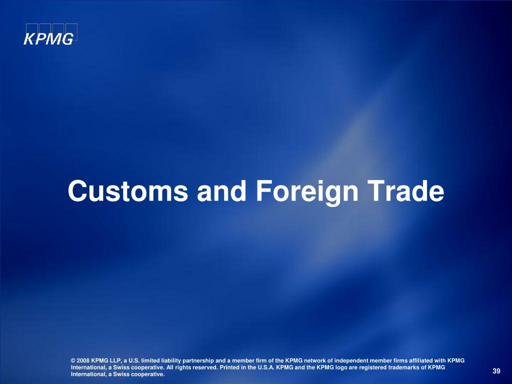 Customs and Foreign Trade