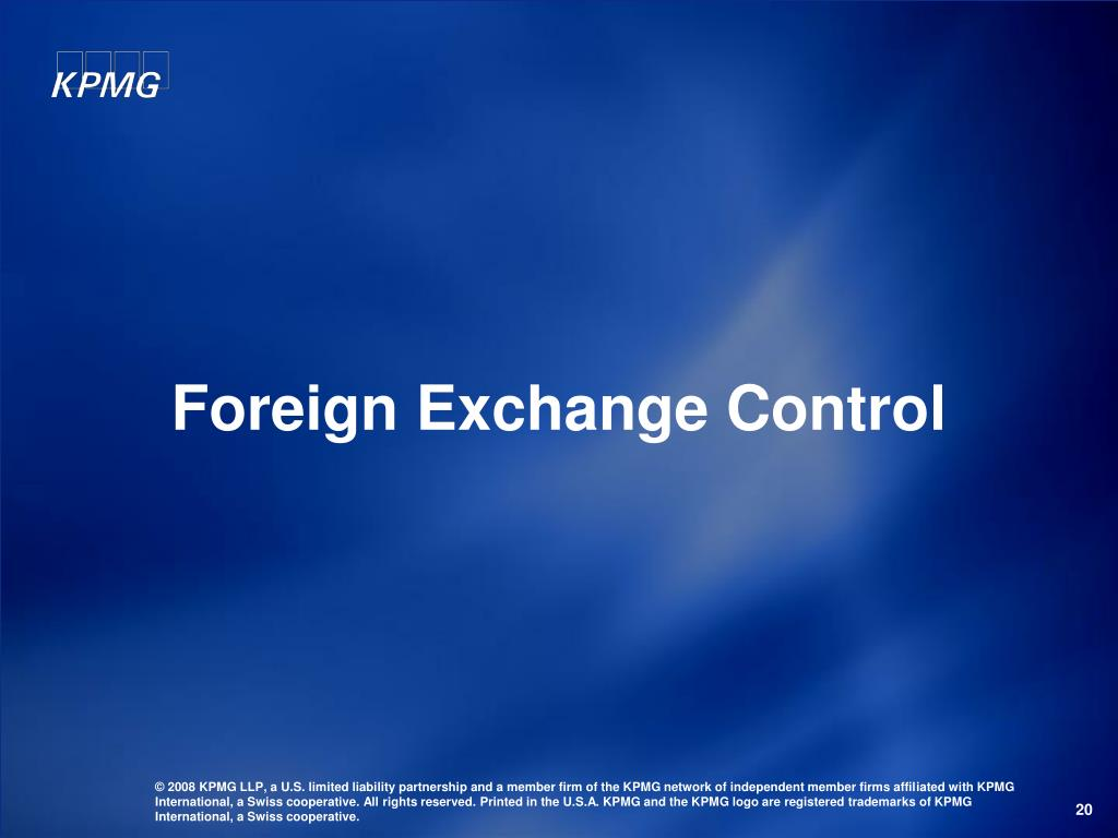 Foreign Exchange Control