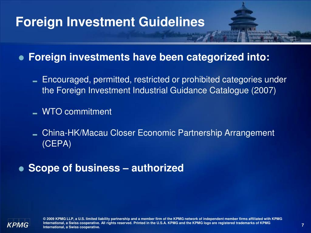 Foreign Investment Guidelines