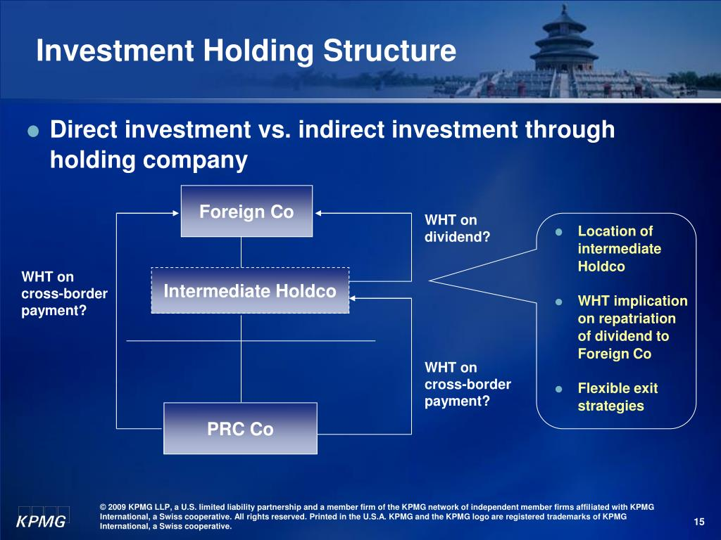 Investment Holding Structure