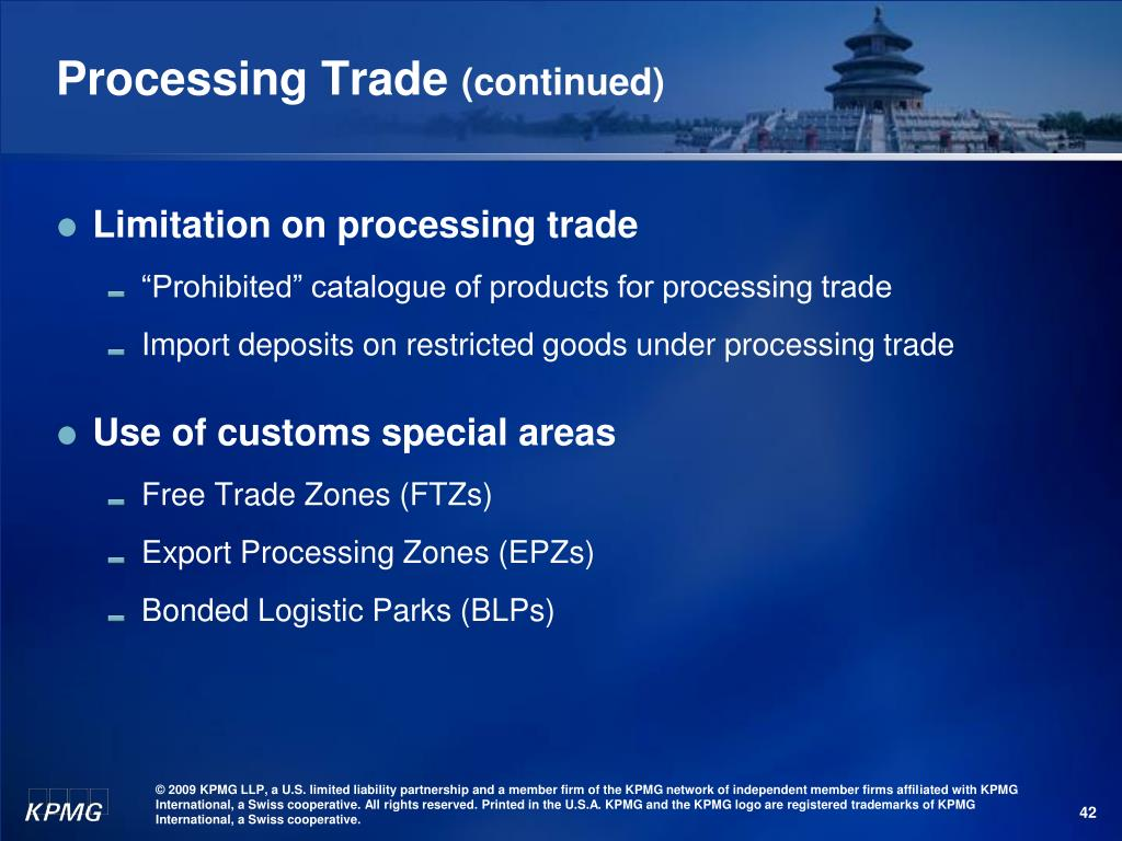 Processing Trade