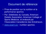 document de r f rence