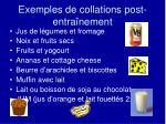 exemples de collations post entra nement