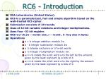 rc6 introduction