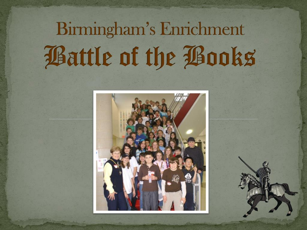 birmingham s enrichment battle of the books l.