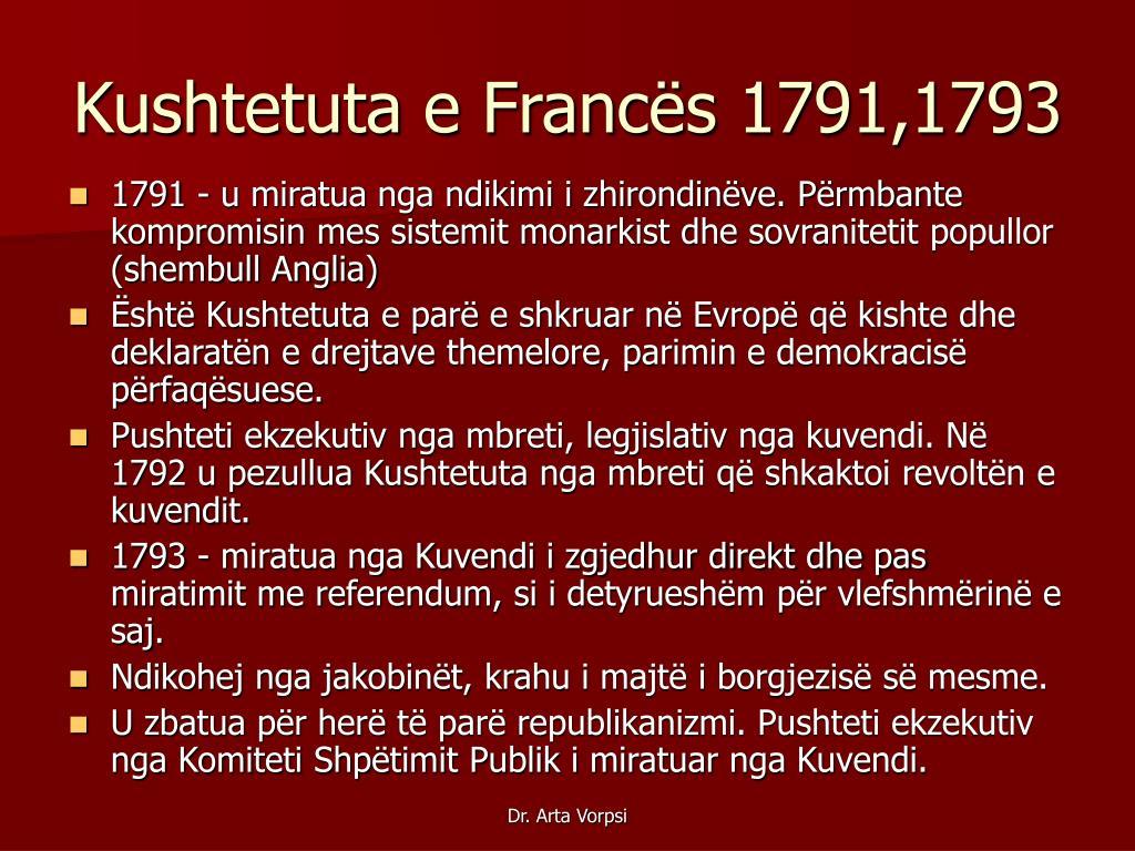 Kushtetuta e Francës 1791,1793