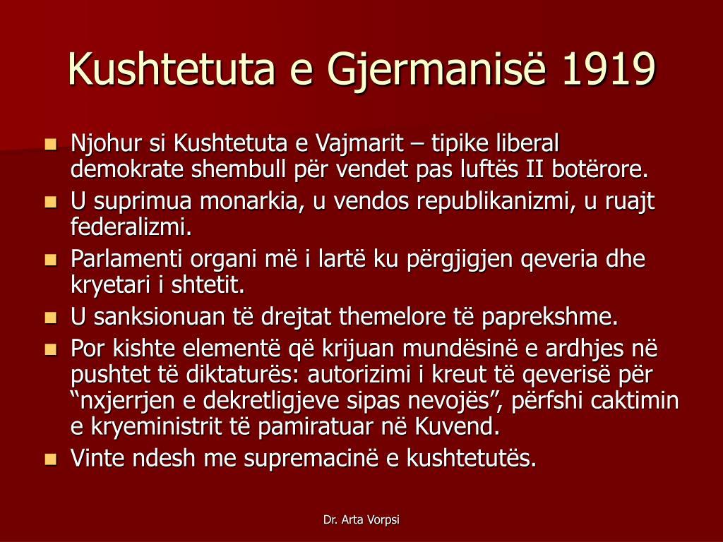 Kushtetuta e Gjermanisë 1919