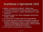 kushtetuta e gjermanis 1919