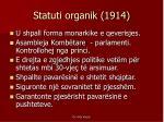 statuti organik 1914