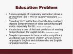 education problem