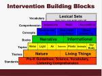 intervention building blocks