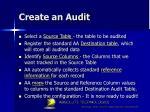create an audit