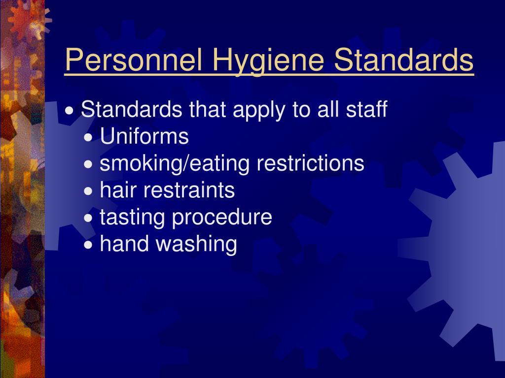 Personnel Hygiene Standards