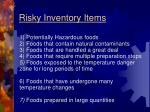 risky inventory items
