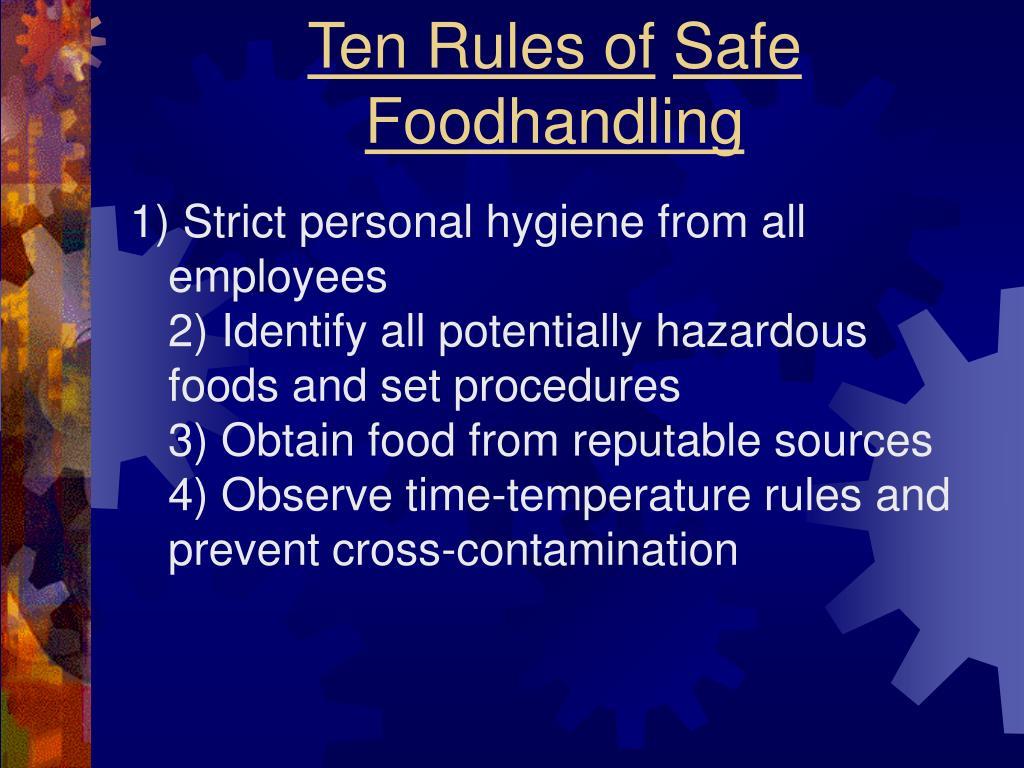 Ten Rules of