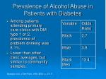 prevalence of alcohol abuse in patients with diabetes