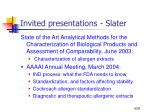 invited presentations slater